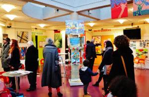 exposition dans le hall du centre social de Cleunay