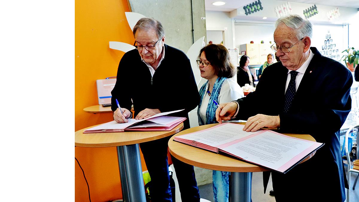 Signature du contrat de partenariat entre l'ARCS et la Mutuelle des Pays de Vilaine