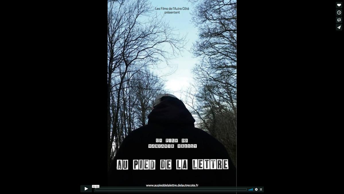 Au pied de la lettre - Un film de Marianne Bressy - réalisatrice soutenu par l'ARCS