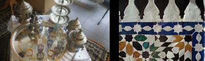 L'Espace Social Commun (ESC) de VILLEJEAN s'est retrouvé baigné dans l'ambiance d'un salon d'Afrique du Nord